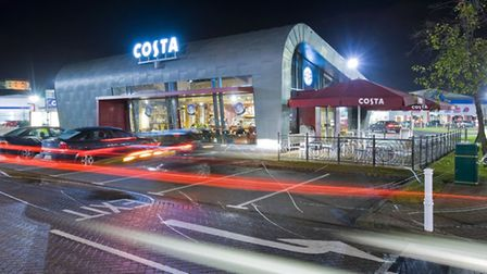 One of the first drive-thru coffee shops in the UK, this new concept store for Costa invites shopper