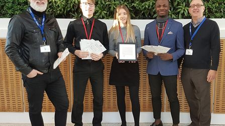 Thomas Clarkson Academy students submit thier views to the I Love Wisbech project. Tim Mann (left),