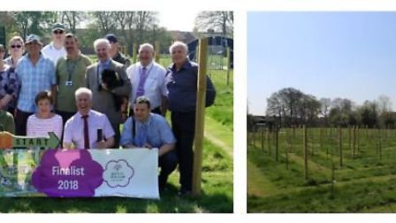 Some of the Wisbech In Bloom team who planted the apple orchard in Wisbech Park. Picture: FENLAND DI