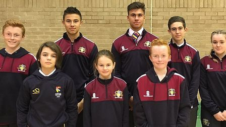 Young Wisbech cricketers are all set to represent their home county this season. Picture: WGS