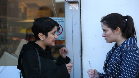 Baroness Shami Chakrabarti speaks to The Welwyn Hatfield Times reporter Mia Jankowicz at Queensway H