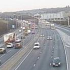 Traffic is building on the M25 following a crash near Radlett. Picture: Highways England