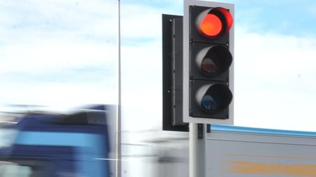 Traffic is slow in Potters Bar thanks to a problem with traffic light signals.