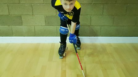 Jack Smith, from West Norfolk, started player roller hockey three years ago and will now represent t