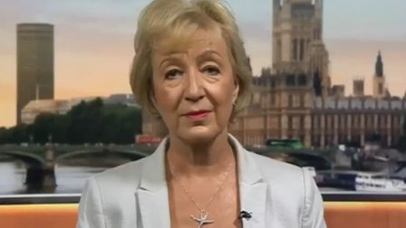 Andrea Leadsom appears on BBC Breakfast. Photograph: BBC.