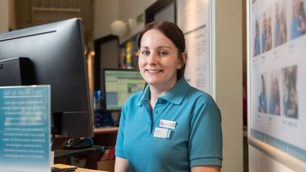 Wisbech receptionist Stacey Godbold first in the UK to get top award. Picture: PAUL TIBBS.