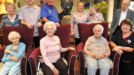 The residents at Care UK's Knebworth Care Home in Woolmer Green were visited by John Hill of CJ's Bi