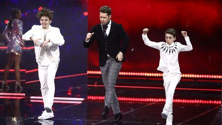 James and Oliver with dance captain Matthew Morrison at the final of BBC One's The Greatest Dancer.