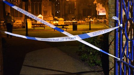 St Peter's Gardens, Wisbech, was cordoned off after a man was seriously injured. Two teenagers have