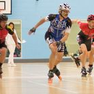 Members of Wisbech Inline Skating team compete at Nottingham University in the Indoor British Champi