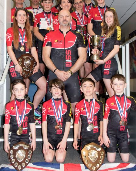 Wisbech Inline Skating team after taking part in the British Championships. Picture: JO TIDMAN