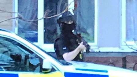 Cops swooped on a block of flats in Prospect Place, Wisbech before a 55-year-old man was arrested on