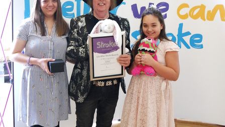 Ten year old Ella Wharf from Wisbech, has received a Highly Commended Life After Stroke Award for ca