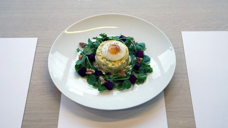 Ruby's winning dish of poached haddock timbale topped with a quail's egg. Picture: Dupree Creative