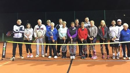 Wisbech Tennis Club members played a doubles tournament on mini courts