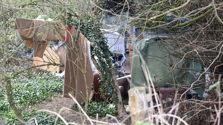 The 'tent city' on the outskirts of Wisbech, a symbol of the homeless situation in the town. Picture