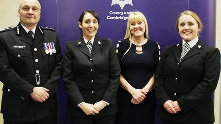 Off-duty nurse Shirley Slender and PCs Tamsin Nichols and Rosie Wilkes were presented with Royal Hum