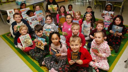 Year two children at Holy Family Catholic Primary School are celebrating Book Week by dressing up in