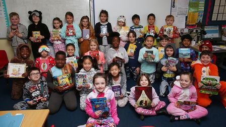 Year three children at Holy Family Catholic Primary School are celebrating Book Week by dressing up