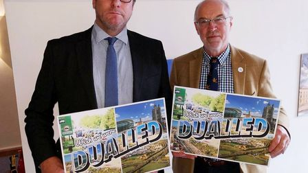 Last year Mayor Palmer met with Norfolk councillor Martin Wilby to discuss the A47 dualling. Picture