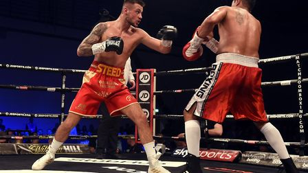 Joe Steed continued his unbeaten start with victory against Miguel Aguilar. Picture: IAN CARTER
