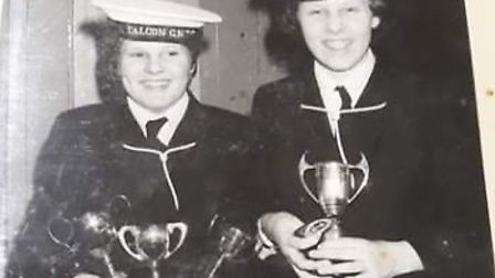 Sarah Rippon, pictured when she was younger at the Wisbech Sea Cadets (right), who is running this y
