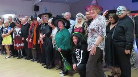 Easter dance night at Wisbech St Mary. Some of the scary people from the centres Halloween event. Pi