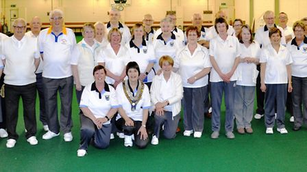 Annual mixed rinks match between North Cambs Bowling Association and the Hudson Indoor Bowls Club he
