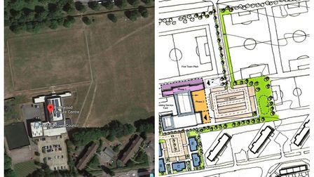 Proposed plans have been released for Birchwood Leisure Centre in Hatfield. Pictures: Google/Saunder