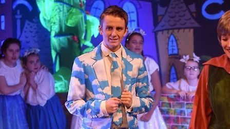 The Christmas panto at The Angles, Wisbech, complete with beanstalk. The original beanstalk the thea