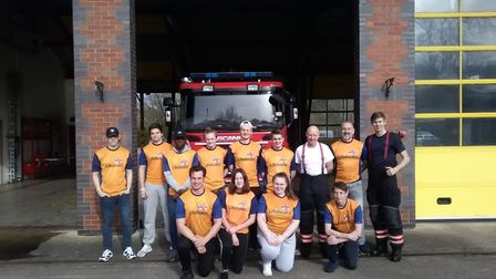 College of West Anglia students hold a charity car wash. Picture: COWA