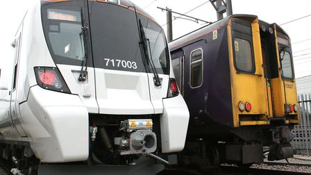 Old and new: Great Northern's 40-year-old trains to Moorgate are being replaced with a new, modern £