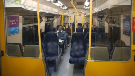 On board one of the old Class 313 trains, which are being replaced by Govia Thameslink Railway. Pict