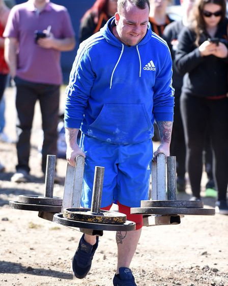 Ironworks strong man competition. Tim Brown. Picture: IAN CARTER