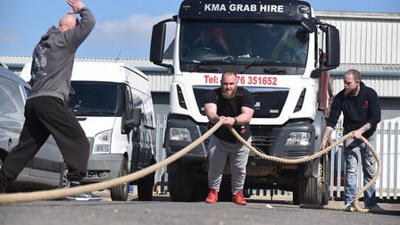 Ironworks strong man competition. Luke Woodbridge. Picture: IAN CARTER