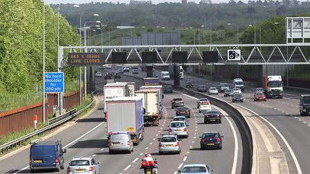 There are severe delays on the M25 near Potters Bar this evening. Picture: Danny Loo