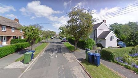The road where a van was deliberately set alight last night (March 21) in Gorefield. Picture: GOOGLE