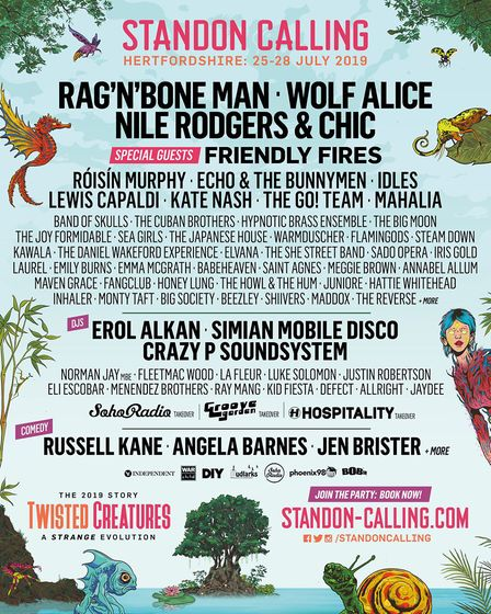 Standon Calling 2019 line-up poster