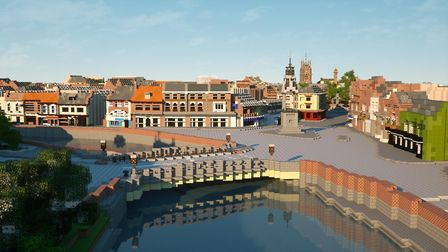 Collusion commissioned virtual builders Blockworks to recreate a section of the town of Wisbech - in