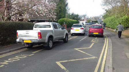 Cars illegally parked in Trafford Park, Wisbech. Picture: SUPPLIED