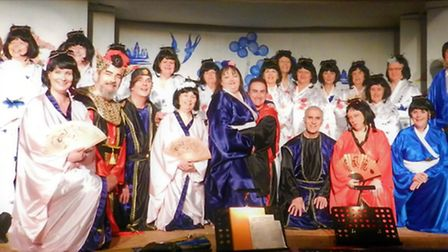 Upwell Gilbert & Sullivan Society performing The Mikado last year. Picture: PETER CALVER.