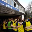 Lotte Clapp leads Saracens Women's final team-talk prior to their win iver Firwood Waterloo.