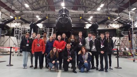 Uniformed Services students from the College of West Anglia's Wisbech campus visited RAF Coningsby,