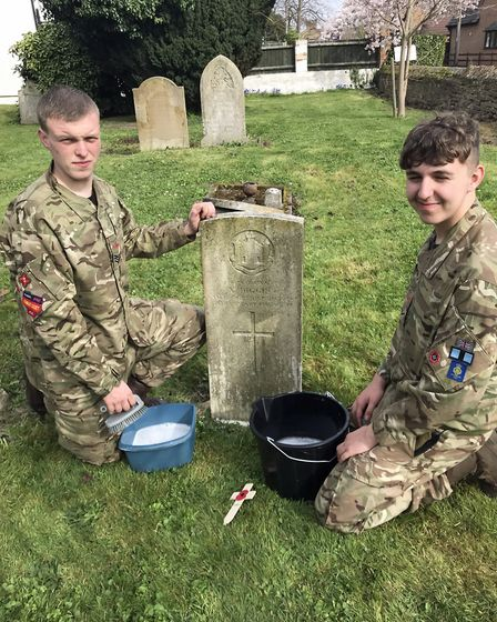 Army cadets from the Wisbech detachment of Cambridgeshire Army Cadet Force kitted out with gloves