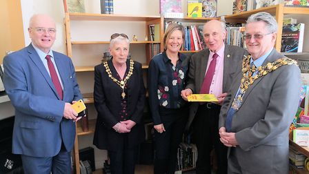 Left to right at the Clock Bookshop opening: Cllr Gordon Bambridge, executive member for growth at B