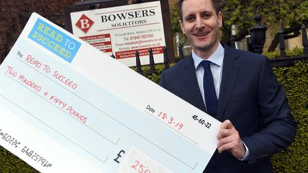 The first donation to MP Steve Barclay's Read to Succeed campaign for 2019 came from Bowsers Solicit