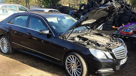 A warrant carried out at a Wisbech garage led to the recovery of this suspected stolen Mercedes-Benz