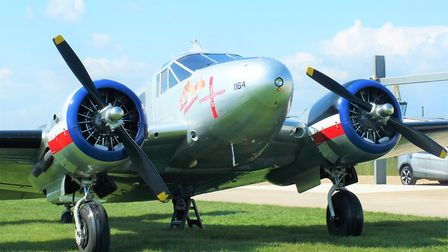 Vintage day of flying at Holbeach St James for Fenland Aero Club, beech-18 Picture; ALISTAIR GOODRU