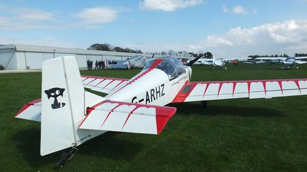 Vintage day of flying at Holbeach St James for Fenland Aero Club, Rollason D62 Condor Picture; ALIS