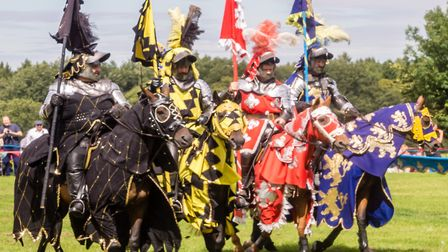 Jousting will return to the grounds of Knebworth House this Easter. Picture: supplied by Knebworth H